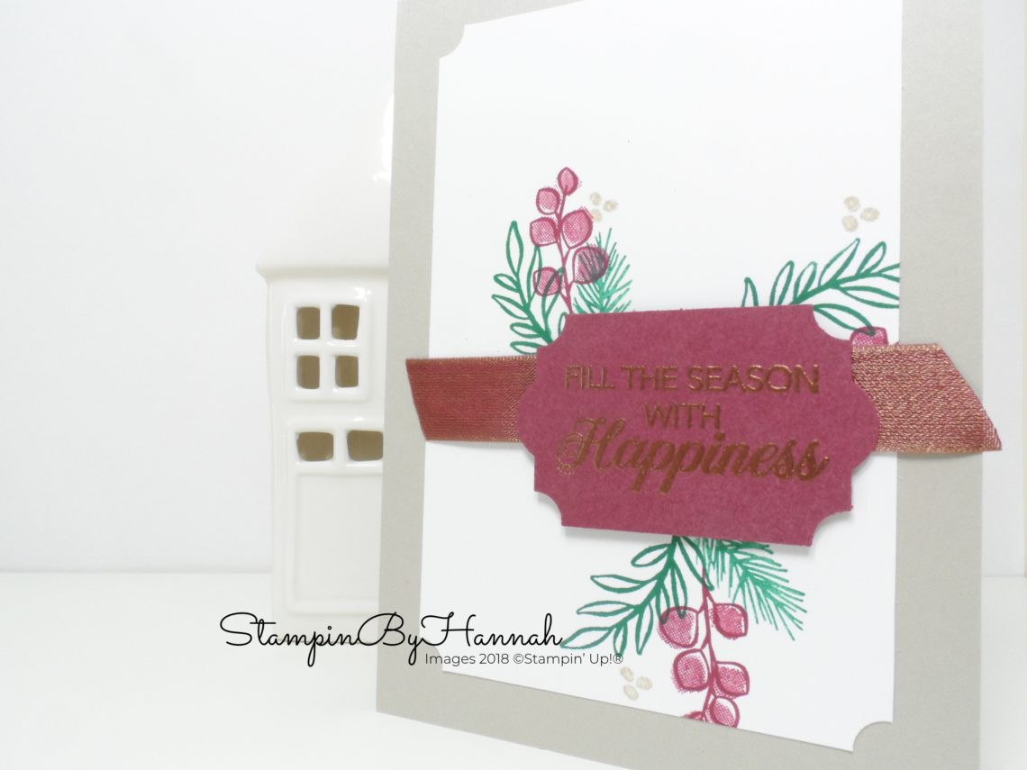 Cute Christmas Card using Peaceful Noel from Stampin' Up!