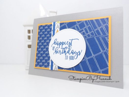 Simple Guys Birthday Card using Best Route from Stampin' Up!