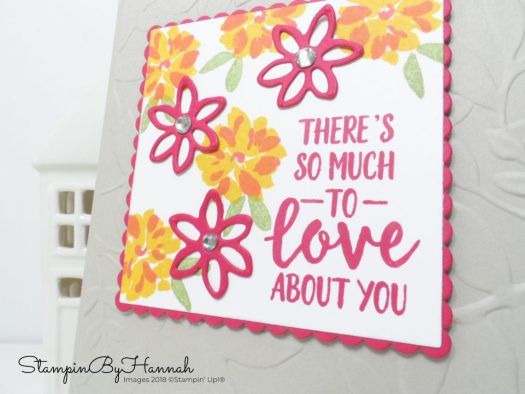 There's So Much to Love About You Card using Abstract Impressions from Stampin' Up!