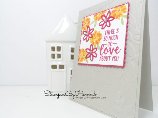 How to create a fun floral Friend card using Stampin' Up! products