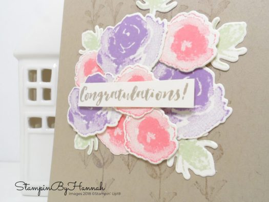 Floral Congratulations card using First Frost from Stampin' Up!