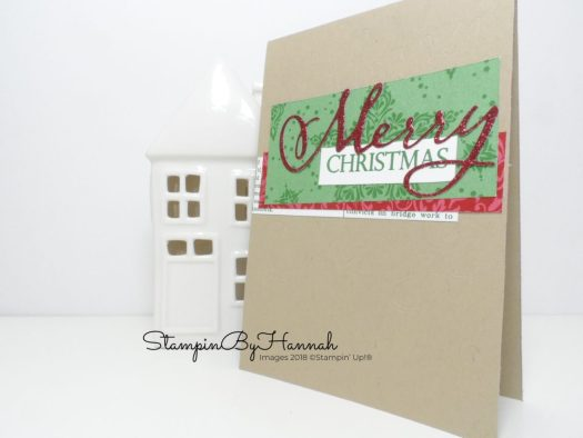 Merry Christmas card using Merry Die Cut from Stampin' Up!