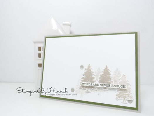 Quick and Easy Sympathy Card using Natures Roots from Stampin' Up!