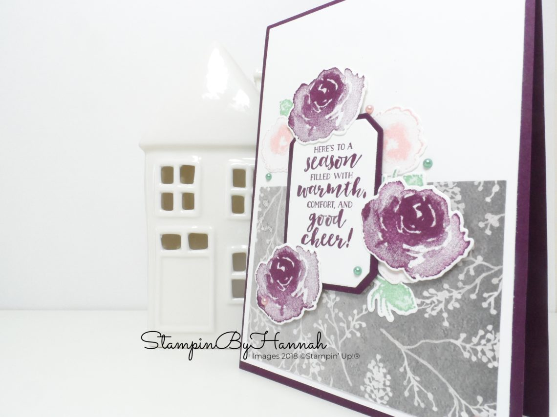 Pretty Floral Christmas Card using First Frost from Stampin' Up!