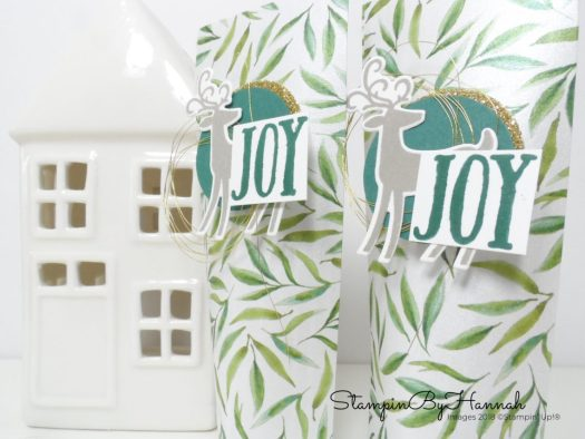 How to make cute self closing table favours for your Christmas table using Stampin' Up! Designer Series Paper