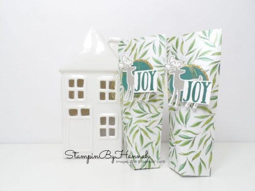 Adorable Christmas Table Favours using Patterned paper and Dashing Deer from Stampin' Up!