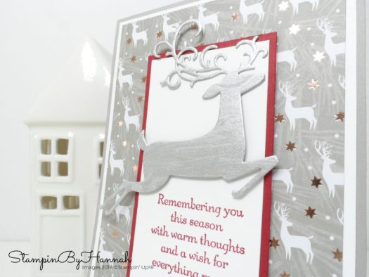Simple Classic Handmade Christmas Card using Dashing Deer from Stampin' Up!