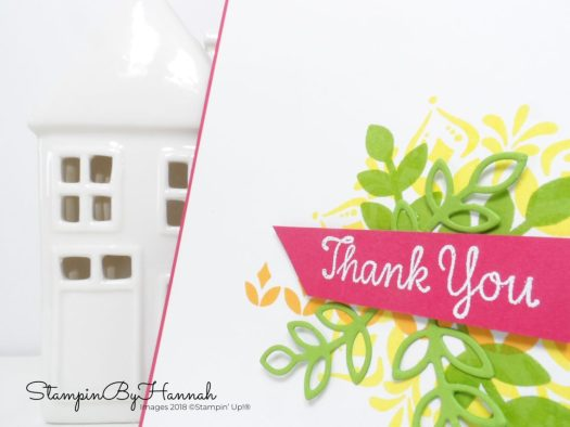 cute thankful card using Happiness Surrounds from Stampin' Up!
