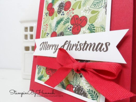 Quick and Easy Christmas Card using fun Patterned Paper from Stampin' Up!