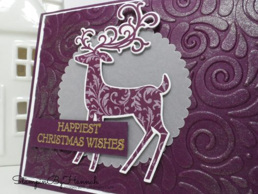 How to make a modern Christmas Card with sparkle using Dashing Deer from Stampin' Up!