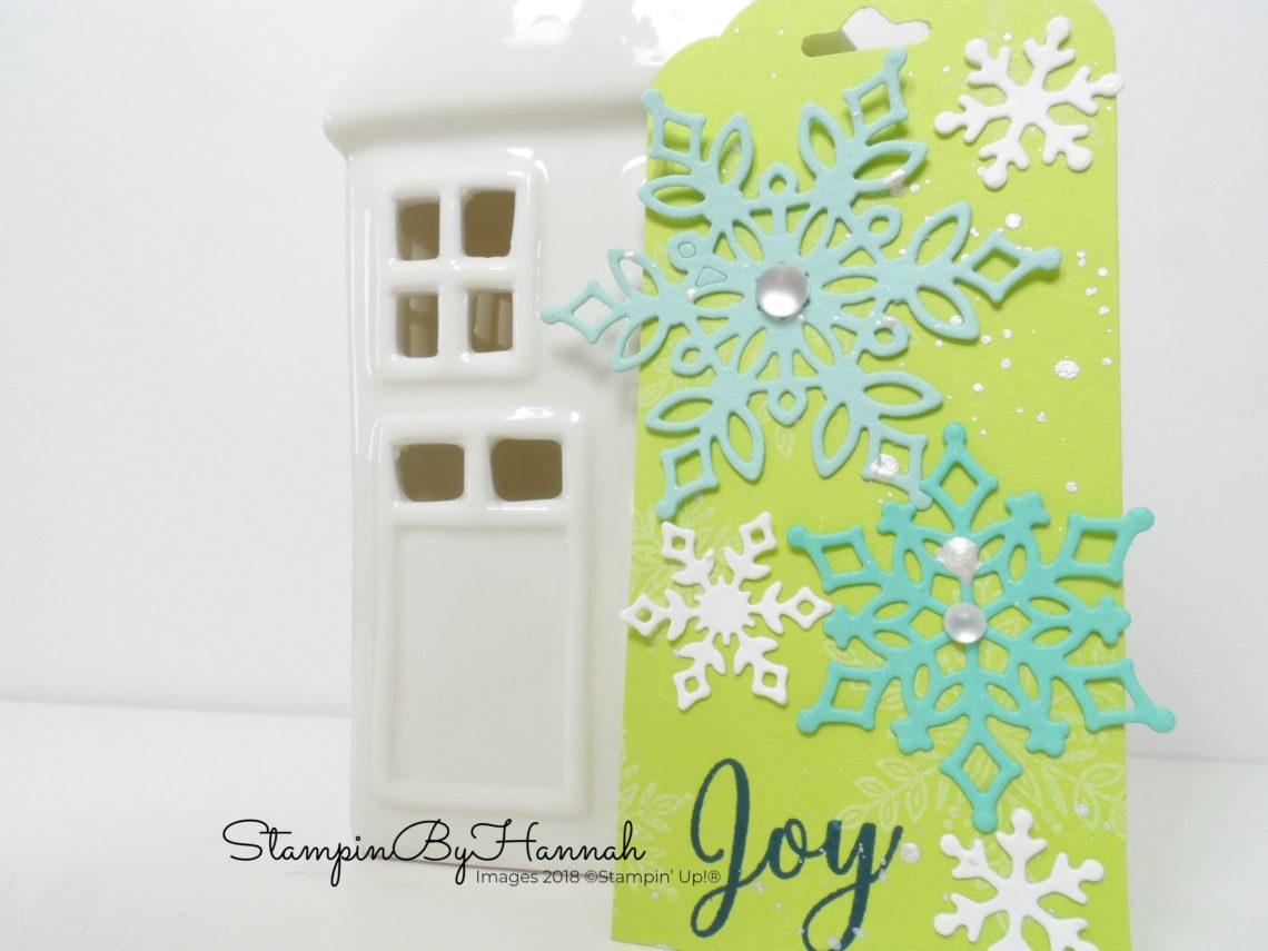 Fun and bright handmade Christmas tags using Stampin' Up! products