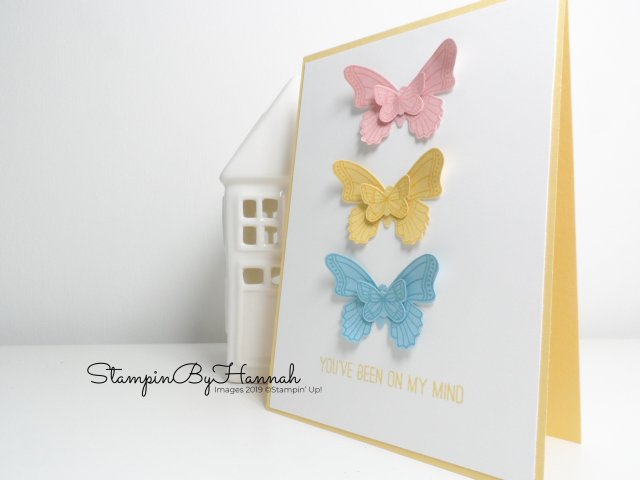Tone on Tone stamping with Butterfly Gala from Stampin' Up! with Facebook Live with StampinByHannah