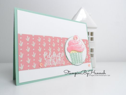Simple to Stepped up card ideas using Hello Cupcake from Stampin' Up! with StampinByHannah