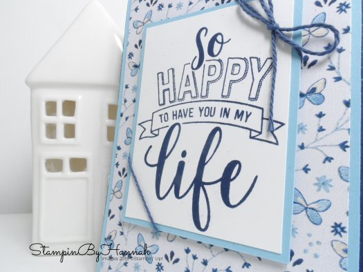Needlepoint Nook Designer Series Paper Just Because Card using Stampin' Up! products with StampinByHannah