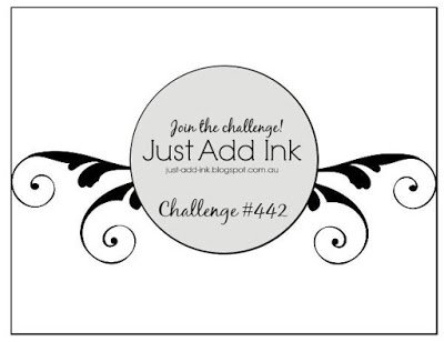 Just Add Ink 442 Sketch Challenge cardmaking rubber stamping