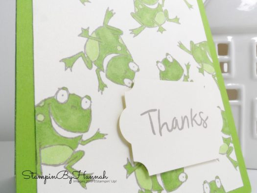 So Hoppy Together Thank you cards using Stampin' Blends with StampinByHannah