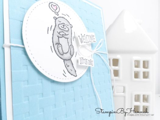 Welcome Little One Baby card using Animal Outings from Stampin' Up! with StampinByHannah