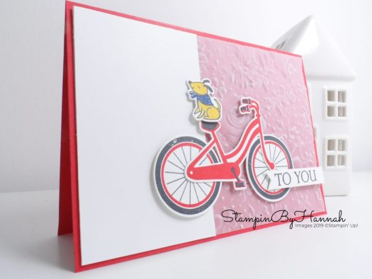 Inspire.Create.Challege 039 Pet themed card using Bike Ride from Stampin' Up! with StampinByHannah