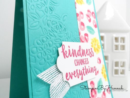 Fun embossed floral card using Springtime Impressions from Stampin' Up! with StampinByHannah
