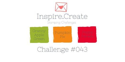 Inspire.Create.Challenge Colour Combination 043 Granny Apple Green Pumpkin Pie Poppy Parade