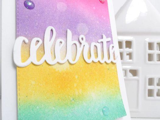 How to create a pretty ink blended congratulations card using Stampin' Up! products with StampinByHannah