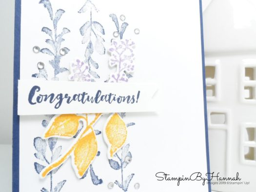 Pretty floral Congratulations card using First Frost from Stampin' Up! with StampinByHannah