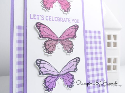 Celebration card using Butterfly Gala card from Stampin' Up!