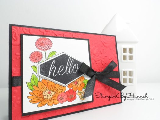 Hello card Accented Blooms Watercolour for Inspire.Create.Challenge using Stampin' Up! products with StampinByHannah