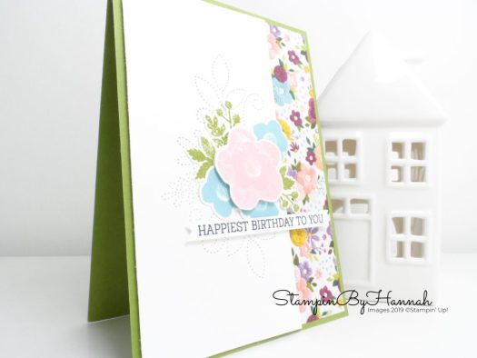 Fun Floral sewing themed Happy Birthday Card Needlepoint Nook from Stampin' Up! with StampinByHannah