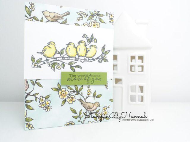 Stunning Bird handmade card using Bird Ballard from Stampin' Up! with StampinByHannah