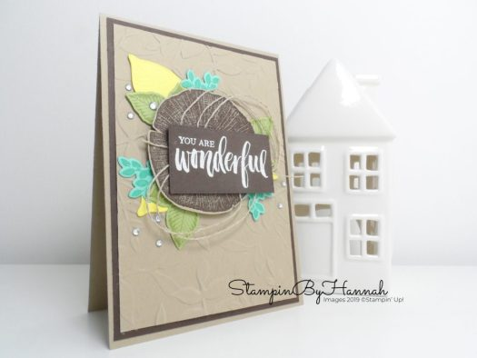 You are Wonderful Encouragement Card using Rooted in Nature from Stampin' Up! with StampinByHannah