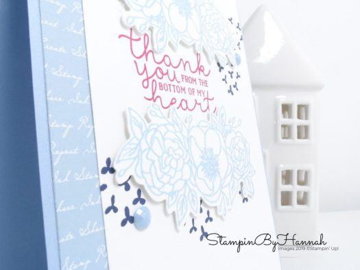 Pretty floral thank you card using Bloom and Grow from Stampin' Up! with StampinByHannah