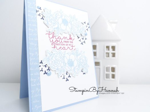 Bloom and grow thank you card using Seaside Spray from Stampin' Up! with StampinByHannah
