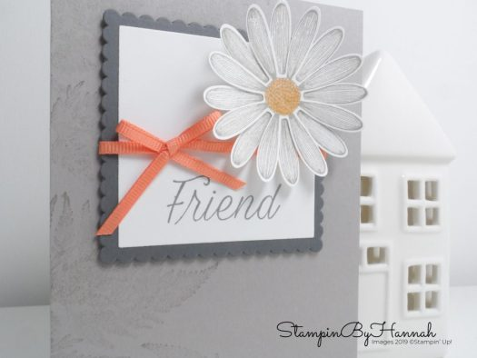 Pretty simple hand Stamped Friend card using Daisy lane from Stampin' Up! with StampinByHannah