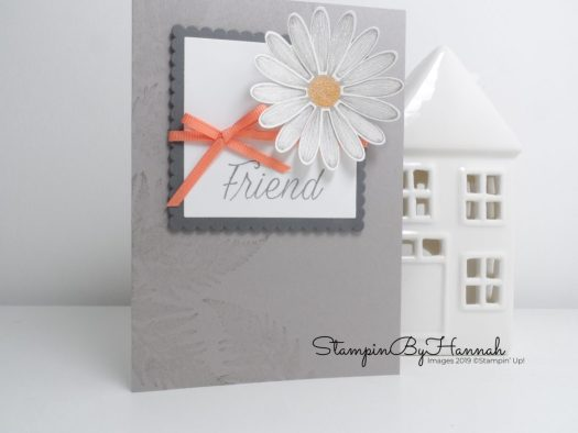 Fun Daisy Friend Card using Daisy Lane from Stampin' Up! with StampinByHannah
