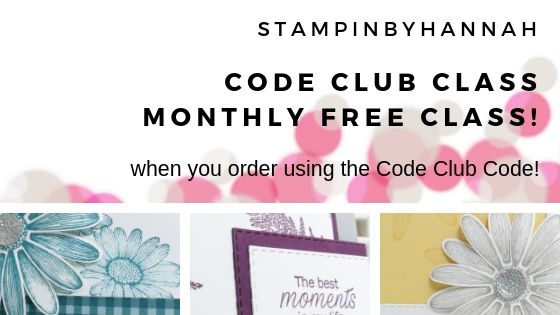 Free Cardmaking class using Stampin' Up! Daisy lane for StampinByHannah's Code Club!