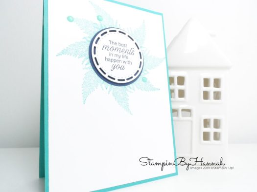 Daisy Lane Wreath card using Stampin' Up! products with StampinByHannah