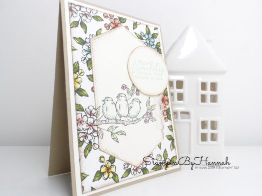 Free as a Bird Card video tutorial using Bird Ballard from Stampin' Up! with StampinByHannah