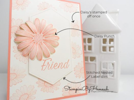 Creating a simple Daisy Lane card using Grapefruit Grove from Stampin' Up! with StampinByHannah