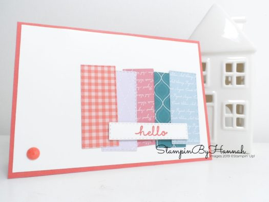 Simple Designer Series Paper card using Bloom and Grow from Stampin' Up! with StampinByHannah