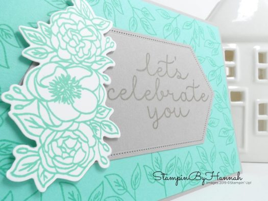Create a Celebration card using Bloom and Grow from Stampin' Up! with StampinByHannah