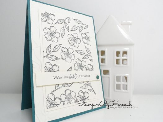 Repeat stamping using Free as a Bird from Stampin' Up! with StampinByHannah