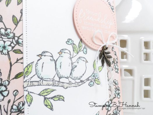 Free as a bird coloured with subtle Blends from Stampin' up! with StampinByHannah