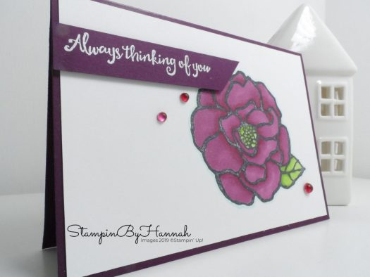 Thinking of you with Blends and Beautiful Day from Stampin' Up! with StampinByHannah