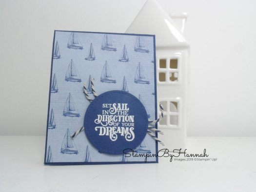 Stampin' Up! Joining offer Sailing Home Notebook with StampinByHannah