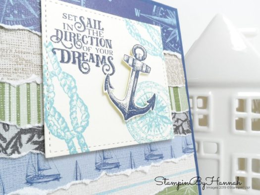 Masculine Encouragement card using Sailing Home from Stampin' Up! with StampinByHannah