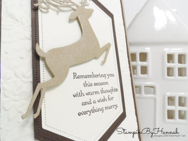 Remembering You card using Dashing Deer from Stampin' Up! with StampinByHannah