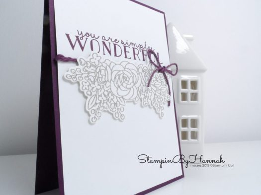 Simple Floral card using Bloom and Grow from Stampin' Up! with StampinByHannah