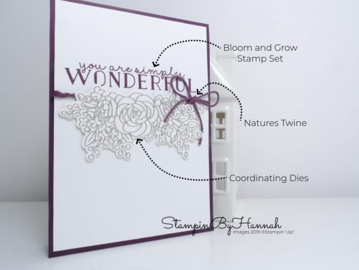 How to make a simply Wonderful card using Bloom and Grow from Stampin' Up! with StampinByHannah