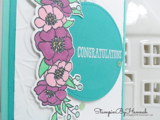 Congratulations card using Stampin' Blends with StampinByHannah